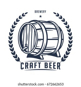 Beer logo, badge, label for brewing company