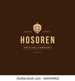 Beer Logo Template. Vector Design Element Vintage Style for Logotype, Label, Badge, Emblem. Brewery Logo, Beer Label, Bar Logo, Beer Icon, Hop Logo, Retro Logo, Beer Symbol, Logo Element.