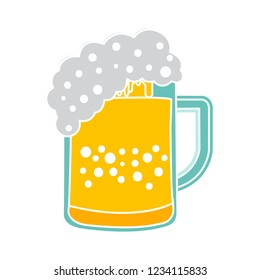beer mug isolated vector - alcohol glass illustration sign . beverage sign symbol
