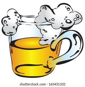 A beer mug painted by hand. Vector illustration.