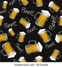 Beer mug pattern