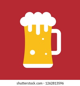 Beer mug vector, Chirstmas related flat design icon