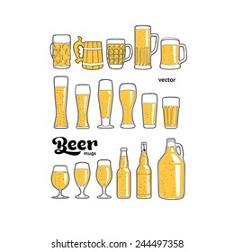 Beer mugs isolated