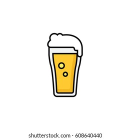 Beer outline colored icon