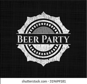 Beer Party chalk emblem