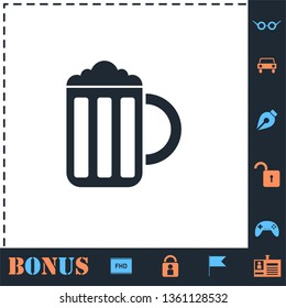 Beer. Perfect icon with bonus simple icons