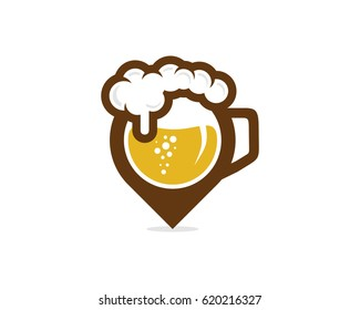 Beer Point Icon Logo Design Element
