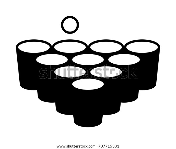 Beer Pong Drinking Game Cups Ball Stock Vector (Royalty Free