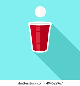 Beer Pong Glass Vector Graphic