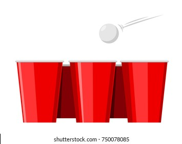 beer pong with red cup