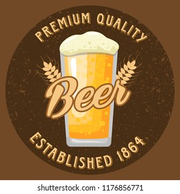 Beer Shop Premiun Quality Logo, Emblem, Badge, Patch Stock Vector