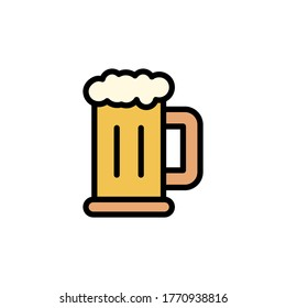 Beer stein icon. Simple color with outline vector elements of international beer day icons for ui and ux, website or mobile application