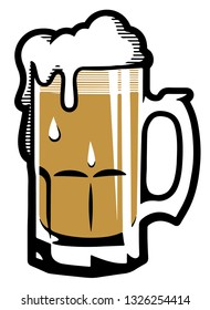 Beer Stein Mug foam vector