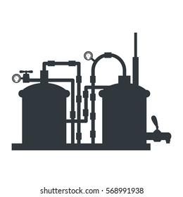 beer tanks icon image design, vector illustration