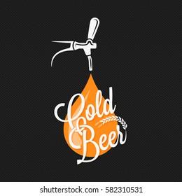 Beer Tap Label Design Background