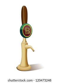 Beer tap vector