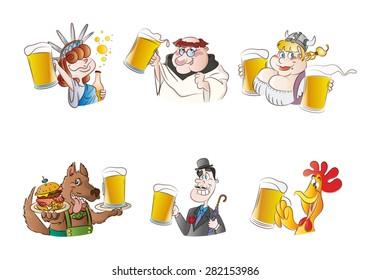 Beer testimonials cartoon