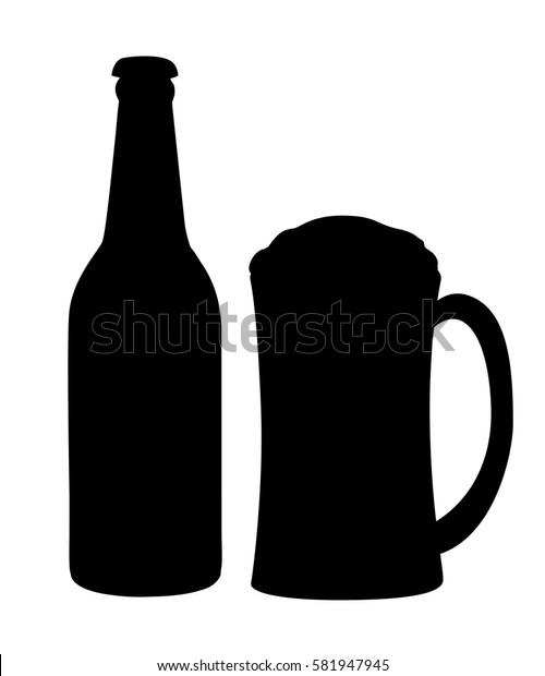 Beer vector set. Beer glasses different types.