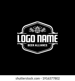 Beer Vintage Logo Design Template Inspiration, Vector Illustration. Retro Logo.