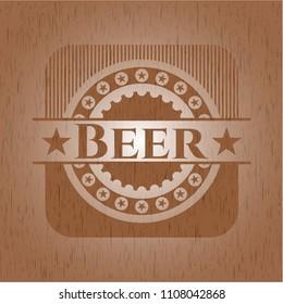 Beer wooden emblem. Vintage.
