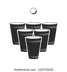 Beerpong icon. Vector. Isolated.