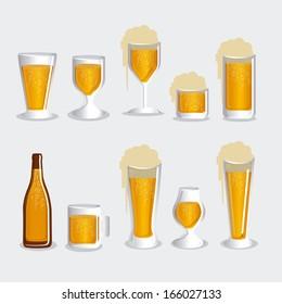 Beers design over white background vector illustration