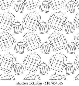 beers glass drink foam cold pattern