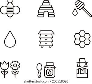 Bees & Honey icons