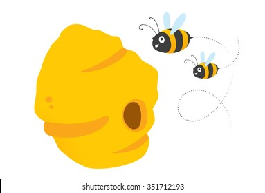 Bees and the nest