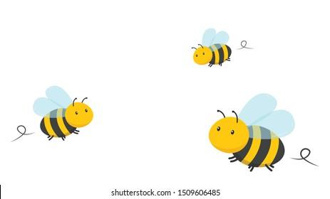 Bees vector. bee cartoon. character design.