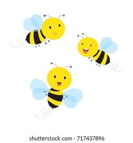 Bees. Vector illustration.