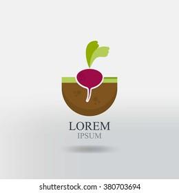 beet icon. farming logo, fresh and organic foods