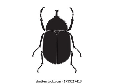 Beetle insect in a continuous pattern.