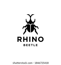 beetle logo Vector icon design, Illustration of Japanese male stag beetle insect with horn