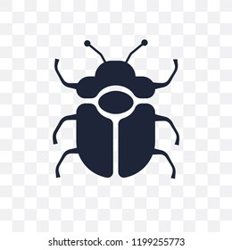 Beetle transparent icon. Beetle symbol design from Animals collection. Simple element vector illustration on transparent background.