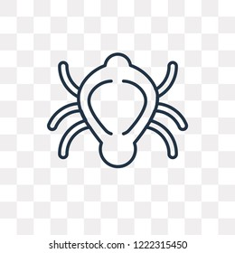 Beetle vector outline icon isolated on transparent background, high quality linear Beetle transparency concept can be used web and mobile