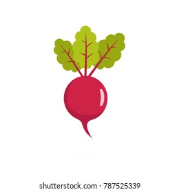 Beetroot icon. Flat illustration of beetroot vector icon isolated on white background