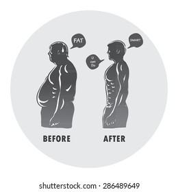before and after body shape man