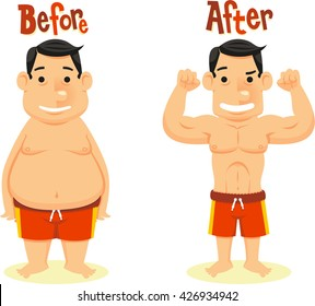 before and after diet weight loss
