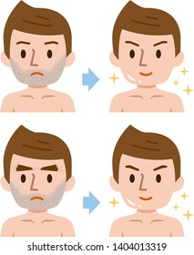 How to Remove Chin Hair Stock Illustrations, Images