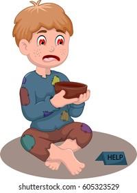 beggar man cartoon