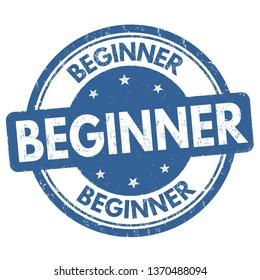 Beginner sign or stamp on white background, vector illustration