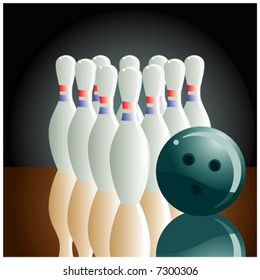 The beginning of a party of bowling