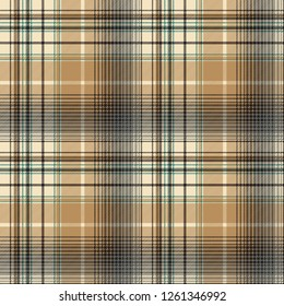 Beige abstract plaid seamless pattern. Vector illustration.