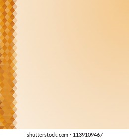 Beige blank background with geometric triangular strip on the side. Abstract vector illustration.