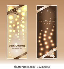 Beige and brown Christmas cards