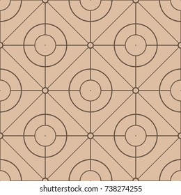 Beige and brown geometric print. Seamless pattern for web, textile and wallpapers