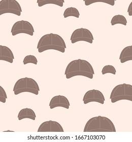 Beige cap pattern print background design