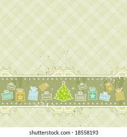beige christmas background, vector illustration