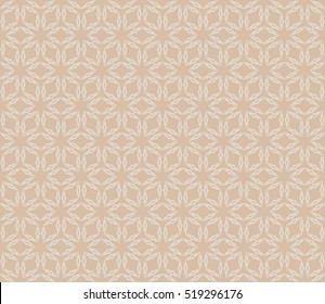 Beige color Seamless texture of cubes. Optical illusion. Vector illustration. For design, wallpaper, fashion